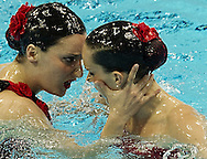 SPAIN ESP.CARBONELL Ona.FUENTES Andrea.London 2012 Olympic Synchronised Swimming Qualification Tournament.Day03 - Duet Free.Photo G.Scala/Deepbluemedia/Wateringphoto.
