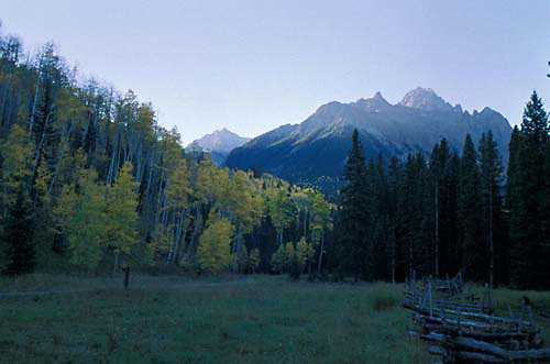 Colorado, San Juan Mountains, Mount Sneffels, Dallas Divide