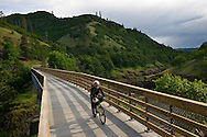 Cycling Klickitat trail, Columbia River Gorge, Washington