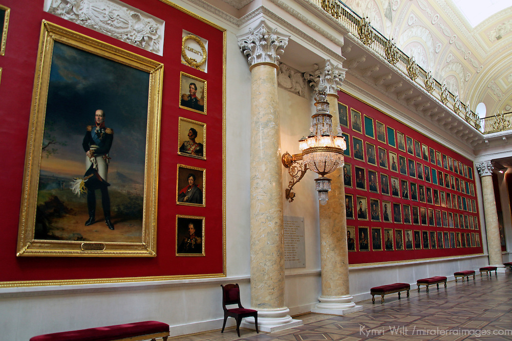 Europe, Russia, St. Petersburg. Portrait Gallery at the Hermitage Museum.