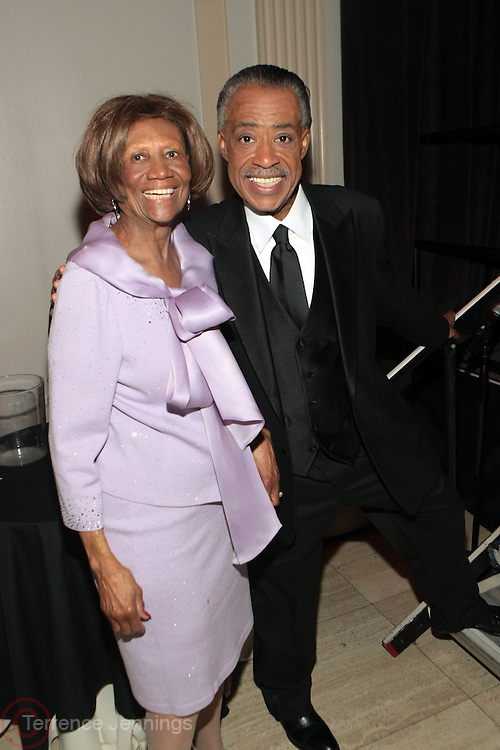New York, NY-April 18: (L-R) Hazel Dukes, President, NY Chapter, NAACP and Rev. Al Sharpton, Founder & President, NAN attend Rev. Al Sharpton's National Action Network's Keeper of the Dream Awards held at Cipriani's Wall Street on April 18, 2012 in New York City. (Photo by Terrence Jennings)