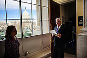 Rep. Barney Frank (D-MA) with his executive assistant, Leona Atkins, on one of his last days as a member of Congress.