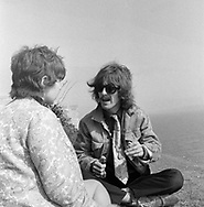 The Beatles 1967 George Harrison during Magical Mystery Tour at Atlantic Hotel in Newquay, Cornwall..© Chris Walter..
