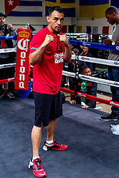"""SANTA MONICA, CA - JUN 3: Pro Boxers Robert """"The Ghost"""" Guerrero (32-3-1, 18 KOs) and Aron Martinez (19-3-1, 4 KOs) attend their media workout at the Wild Card West Boxing Gym, in Santa Monica, CA for their upcoming bout on Saturday afternoon, June 6 as Premier Boxing Champions (PBC) on NBC comes to StubHub Center in Carson, Calif. The broadcast begins at 3 p.m. ET/noon PT. 2015, June 3. Byline, credit, TV usage, web usage or linkback must read SILVEXPHOTO.COM. Failure to byline correctly will incur double the agreed fee. Tel: +1 714 504 6870."""