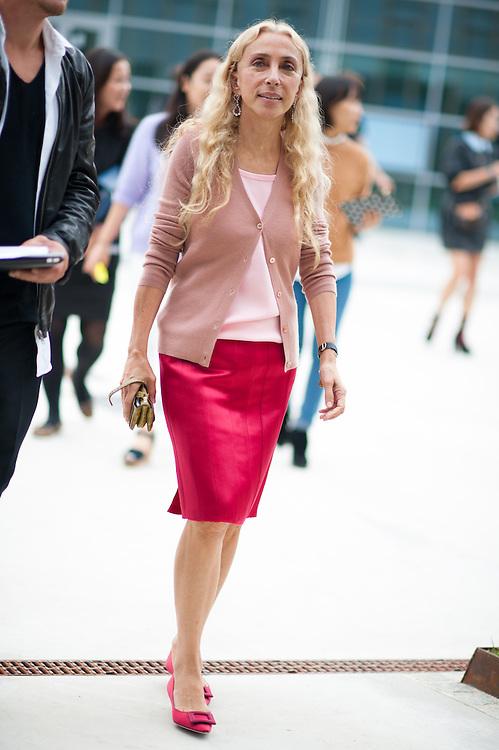 Franca Sozzani in Pink at Missoni