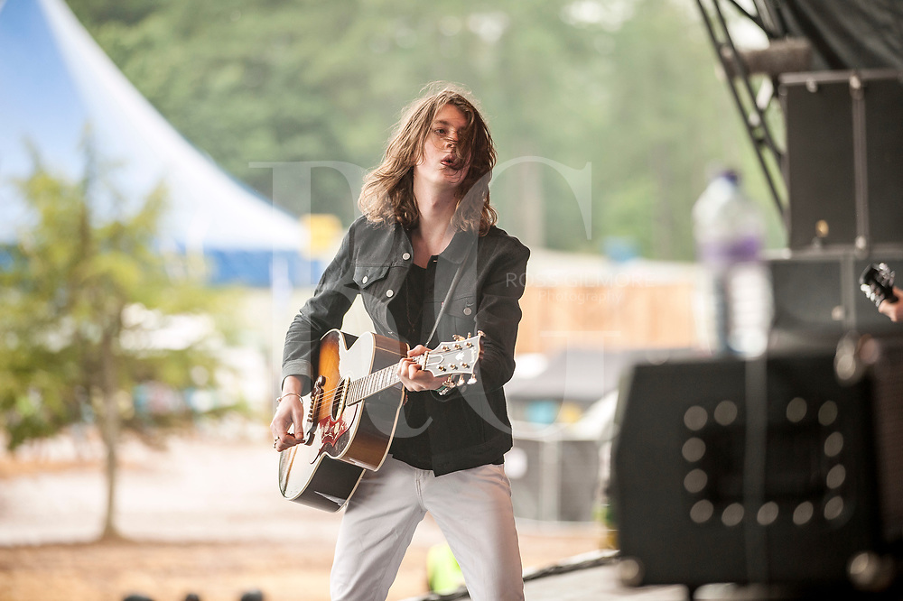 Tom Ogden of Blossoms performs on Day 3 of the T in the Park festival at Strathallan Castle on July10, 2016 in Perth, Scotland.
