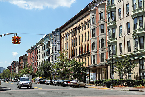 Many 19th Century Row Houses And Condominium And Apartment Building Line  Wash