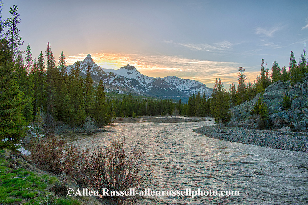Clarks Fork of the Yellowstone River, Pilot Peak, Index Peak, Beartooth Scenic Byway, Wyoming