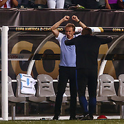 United States Manager JURGEN KLINSMANN shows emotions from the side lines in the first half of a Copa America Centenario Group A match between the United States and Paraguay Saturday, June. 11, 2016 at Lincoln Financial Field in Philadelphia, PA.