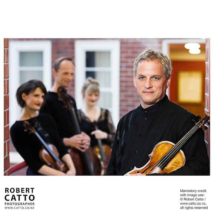Helene Pohl;Rolf Gjelsten;Gillian Ansell;Douglas Beilman (New Zealand String Quartet)  at Victoria University, Wellington, New Zealand.