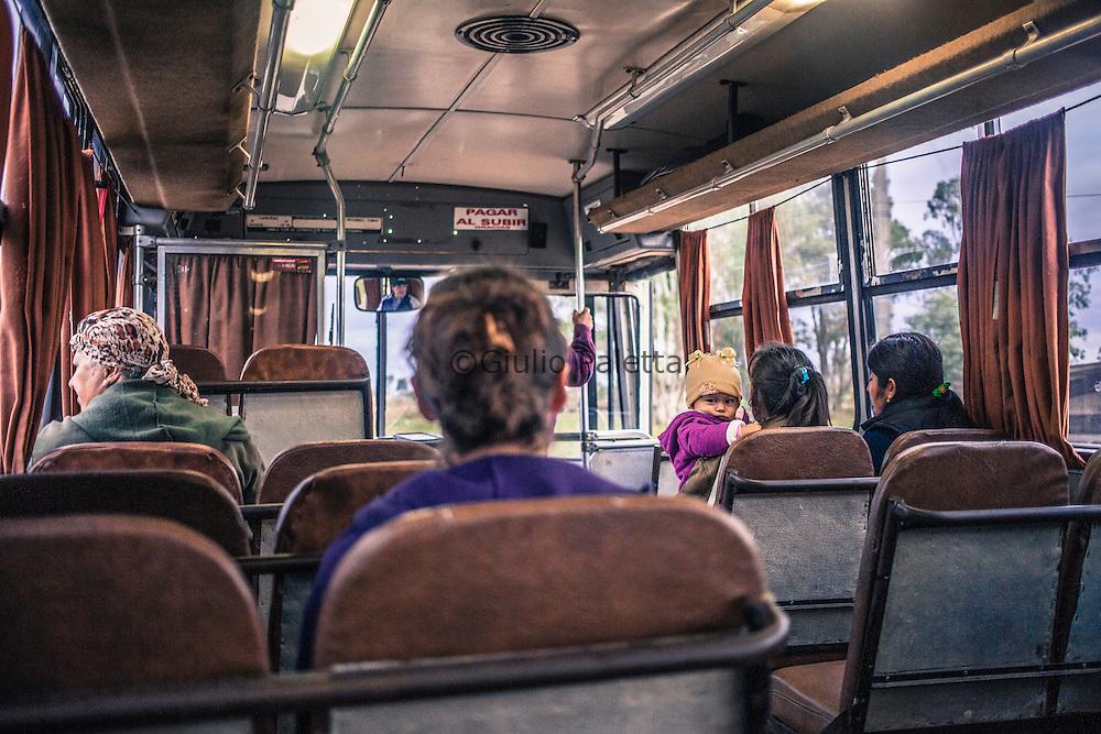 Border Brazil - Uruguay. On the bus linking Bella Union (Uruguay) with Barra do Quarai (Brazil)