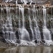 Eureka City Lake.Waterfalls on East side.Eureka, KS.December 26, 2011 Edition of 150