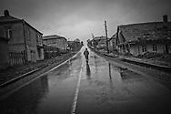 Street in Tsalka, which was predominately an ethnic Greek village. Tsalka. 2006.