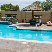 Swimming pool at the Gage Hotel, in Marathon, Texas. west Texas.