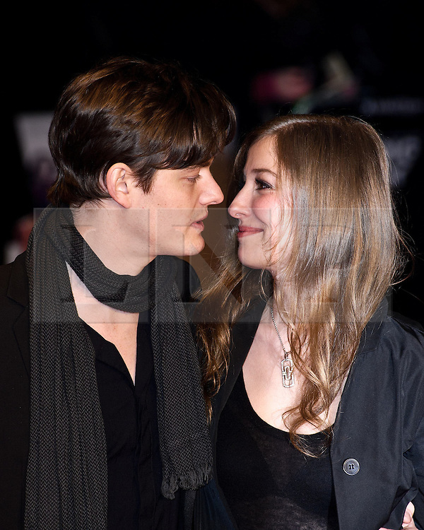© under license to London News Pictures. 01/02/2011. Sam Riley and Alexandra Maria Lara attends the European premiere of Brighton Rock at Leicester Square, London. Picture credit should read: Julie Edwards/London News Pictures