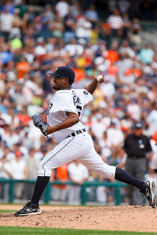 June 20, 2010: Detroit Tigers' Jose Valverde (46) during the MLB baseball game between the Arizona Diamondbacks and Detroit Tigers at  Comerica Park in Detroit, Michigan.