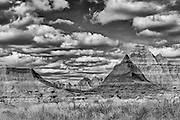 Photographs of the landscapes within Badlands National Park, South Dakota