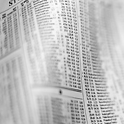 Stock exchange newspaper listing of securities with narrow focus.