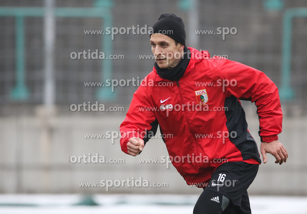 17.02.2015, Trainingsgel&auml;nde, Augsburg, GER, 1. FBL, FC Augsburg, Training, im Bild Christoph Janker (FC Augsburg #16), // during a trainingssession of the german 1st bundesliga club FC Augsburg at the Trainingsgel&auml;nde in Augsburg, Germany on 2015/02/17. EXPA Pictures &copy; 2015, PhotoCredit: EXPA/ Eibner-Pressefoto/ Krieger<br /> <br /> *****ATTENTION - OUT of GER*****