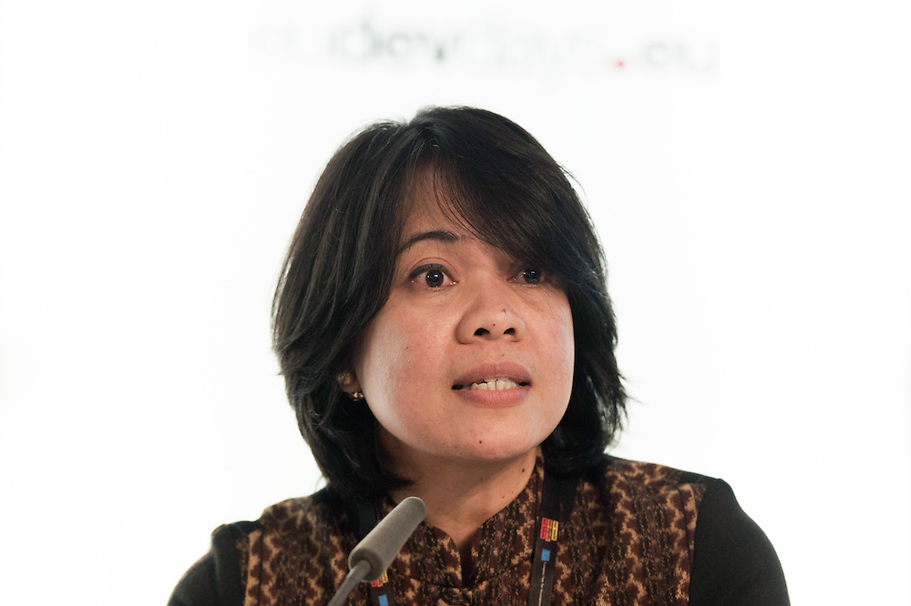 03 June 2015 - Belgium - Brussels - European Development Days - EDD - Financing - Recognising the role of Southern providers of aid in development - Siti Nugraha Mauludiah , Director for Technical Cooperation © European Union