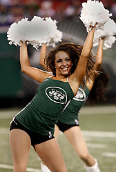 Sept 3, 2009; East Rutherford, NJ, USA;   Members of the NY Jets Flight team perform during the second half at Giants Stadium.  The Jets defeated the Eagles 38-27.