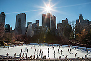 Sunny Thanksgiving Day in Central Park, New York City