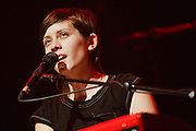 Tegan and Sara perform at Terminal 5 in New York City on October 05, 2008.