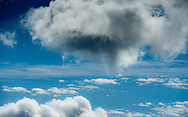 Cumulus clouds, Angus, Scotland