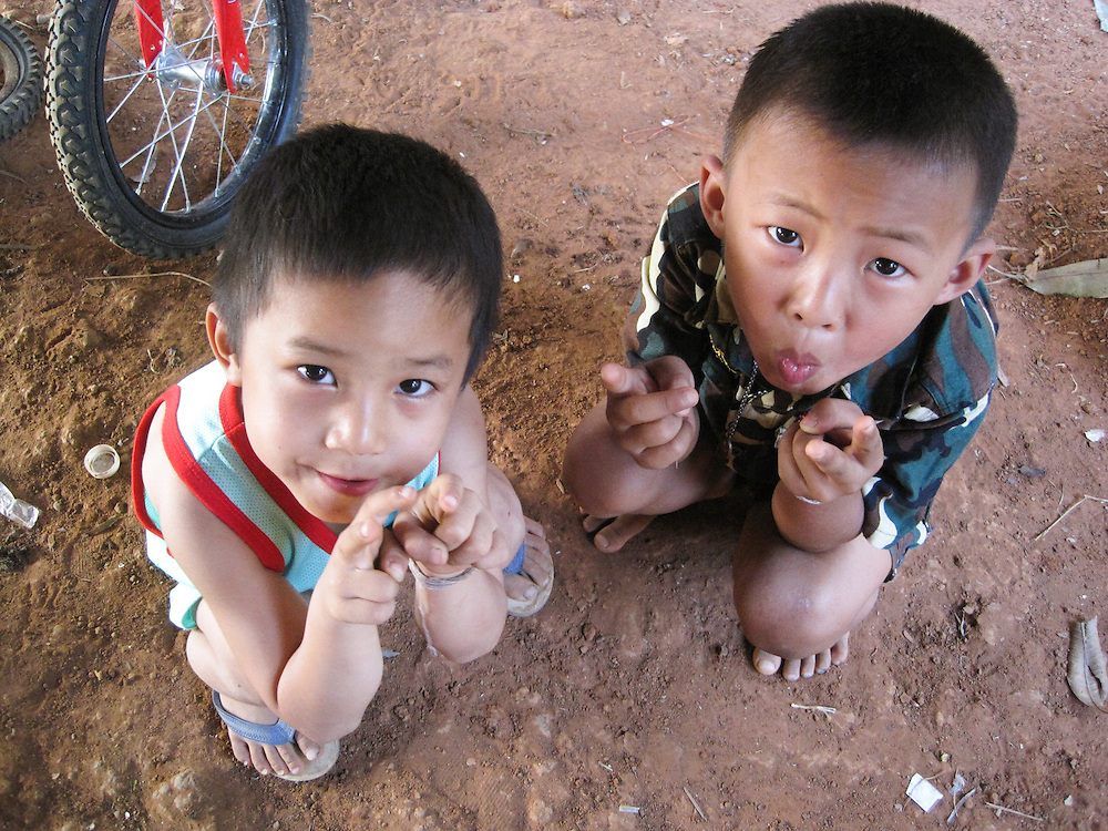 These are Mida's neighbors' sons posing for Mida's lens.