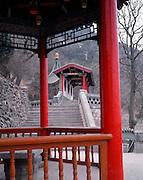 AA01211-01...CHINA - Pavillion at Huaqing Hot Spring near Xi'an.