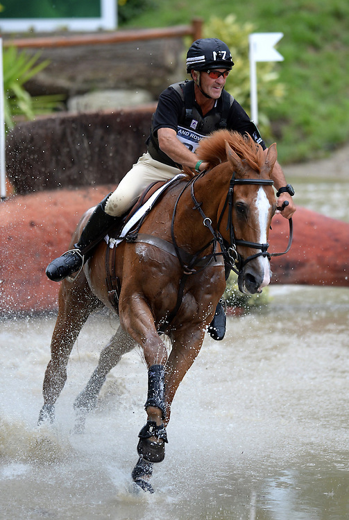 New Zealand's Andrew Nicholson rides Nereo in the Cross Country Phase of Eventing, Le Pin National Stud, Le Haras national du Pin, Normandy, France, Saturday, August, 30, 2014. Credit:  SNPA /Sarah Alderman
