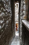 One of the village's narrow allies. Saint Paul, France.