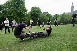 Krav Maga seminar in Kelvingove Park, Glasgow, by the Institute of Krav Maga Scotland. The seminar shows Krav Maga in real life type situations.