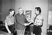 1967 - Presentation of booklet by National Savings Committee to the Catholic Boy Scouts of Ireland