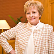 Zyta Gilowska politician polish minister of finance in her office