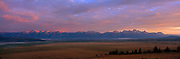 Sunrise on the Teton Mountains and Jackson Hole in Grand Teton National Park
