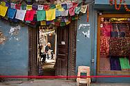 A quiet corner in Kathmandu's busy Durbar Square.