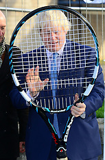 NOV 24 2014 Boris Johnson meets NEC Wheelchair Tennis Masters