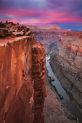 The Toroweap overlook 3,000 feet above the Colorado River in Grand Canyon National Park.