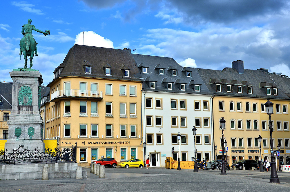 Place Guillaume Ii Square In Luxembourg City Luxembourg
