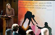 17-2-2016 - LEIDEN Queen Maxima visiting debt relief Buddy Netherlands, a national organization that helps people who have got into financial trouble or at risk of exclusion. copyright Robin Utrecht<br /> 17-2-2016 - LEIDEN Koningin Maxima brengt een bezoek aan SchuldHulpMaatje Nederland, een landelijke vereniging die mensen helpt die in financi&euml;le problemen zijn geraakt of dreigen te raken. copyright Robin Utrecht