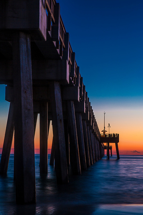 Sunset at the Fishing Pier in Panama City Florida