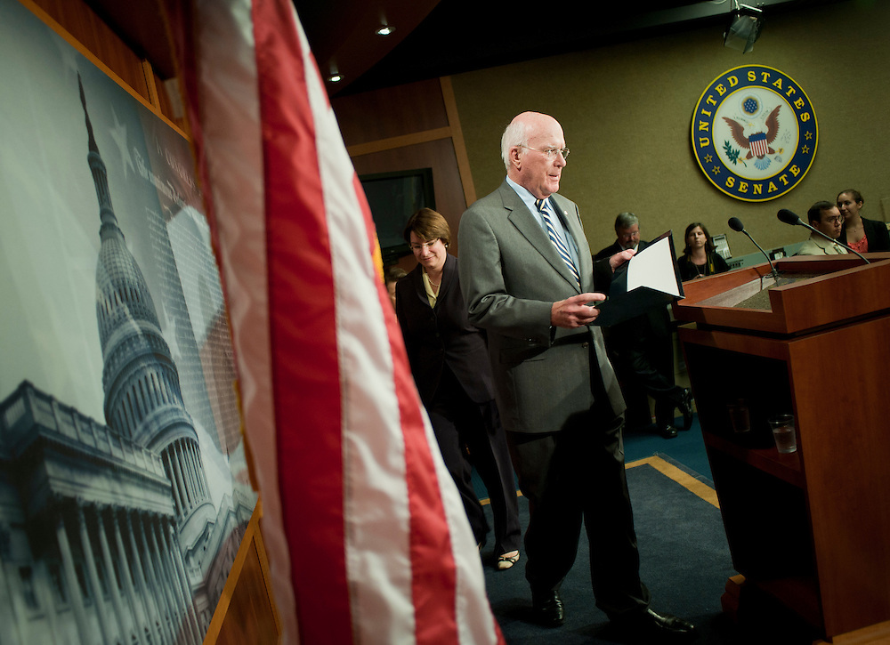 Aug 5, 2010 - Washington, District of Columbia, U.S., -  Senator PATRICK LEAHY (D-VT)  enters a press conference after the United States Senate confirmed Solicitor General Elena Kagan as the 112th justice to the Supreme Court Thursday by a vote of 63-37. Kagan could be sworn into her judicial post by week's end..(Credit Image: © Pete Marovich/ZUMA Press)