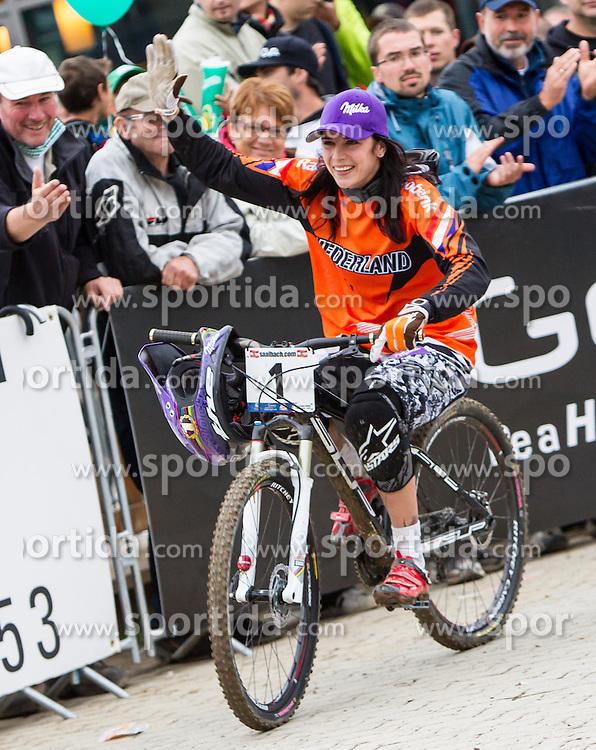 01.09.2012, Bikepark, Leogang, AUT, UCI, Mountainbike und Trial Weltmeisterschaften, WOMEN Elite, 4-Cross, im Bild Weltmeisterin Anneke Beerten (NED) // Worldchampion Anneke Beerten (NED) during UCI Mountainbike and Trial World Championships, MEN WOMEN, 4-Cross at the Bikepark, Leogang, Austria on .2012/09/01. EXPA Pictures © 2012, PhotoCredit: EXPA/ Juergen Feichter