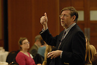 David Kessler, Professor of Pediatrics and Epidemiology and Biostatistics at the University of California San Francisco School of Medicine and former commissioner of the Food and Drug Administration speaks as the keynote at 'Obesity and Chronic Disease: Making and Unmaking the Epidemic' at the Blackwell Conference Center and Hotel in Columbus, Ohio on Nov. 2, 2011.