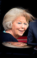 14-05-2014 AMSTERDAM - Princess Beatrix arrives . King Willem-Alexander and Maxima Queen received Wednesday May 14, 2014 the Diplomatic Corps for the annual gala dinner. The dinner will be held at the Royal Palace in Amsterdam COPYRIGHT ROBIN UTRECHT