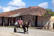 Horse and cart in Bocas, Holguin, Cuba.