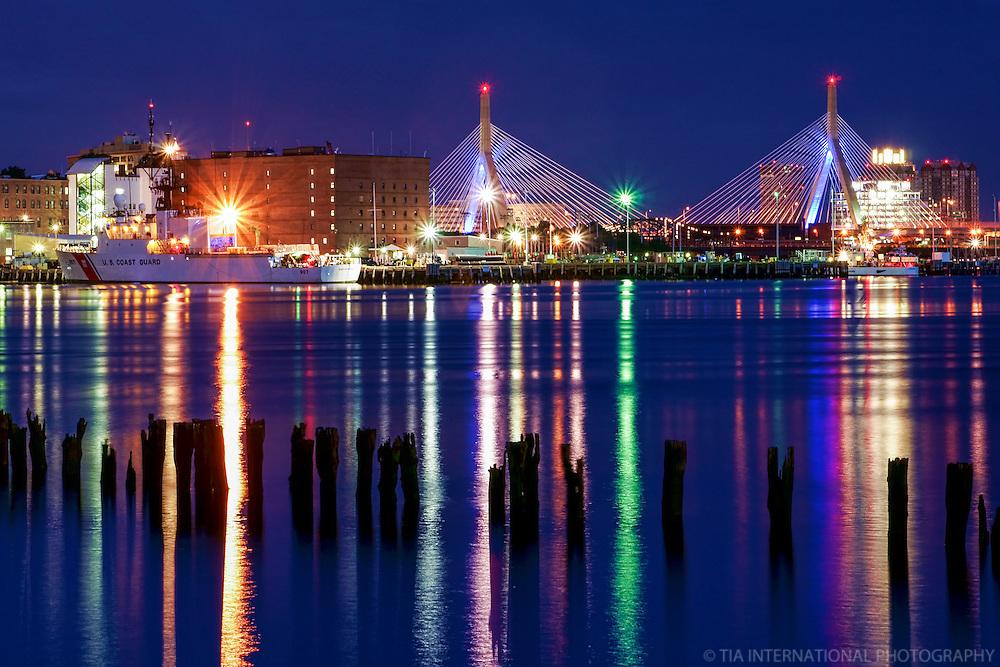 Boston Harbor & Zakim Bunker Hill Memorial Bridge