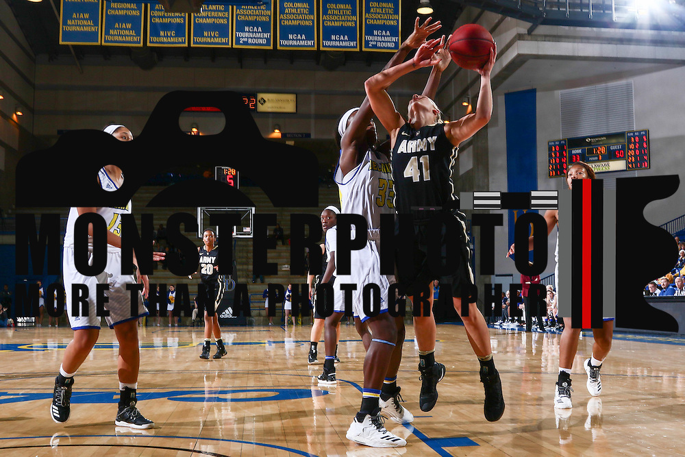 Army West Point Forward Madison Hovren (41) drives to the basket during a regular-season non conference game between Delaware and Army West Point Sunday, Dec. 11, 2016, at the Bob Carpenter Center in Newark Delaware.