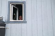 Ted Booth at his home in Kivalina, Alaska.